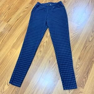 Cute Gingham Pull On Jeggings- Size S/M